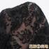 【9〜17号】ロールカラーのフロッキー刺繍ワンピース【結婚式、披露宴、入学式】